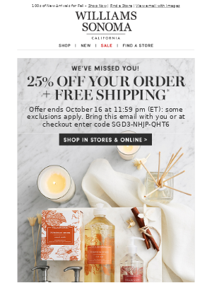 25% Off Your Order + Free Shipping - 2 Days Only!