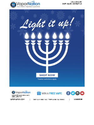 Hanukkah Sale: 20% Off Sitewide