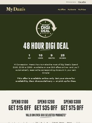 Hi Concepcion -  MUST END TOMORROW, don't miss out on our 48hr online Digi Deals!