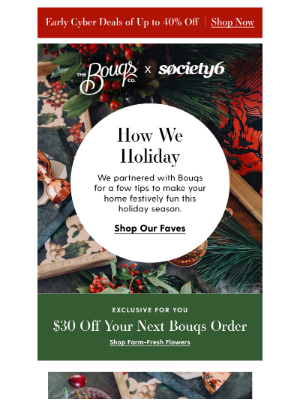 Society6 - {How We Holiday} with Society6 & Bouqs