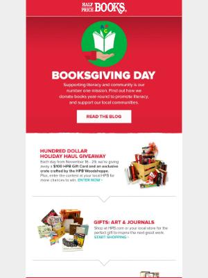 Half Price Books - It's Booksgiving Day! 📚