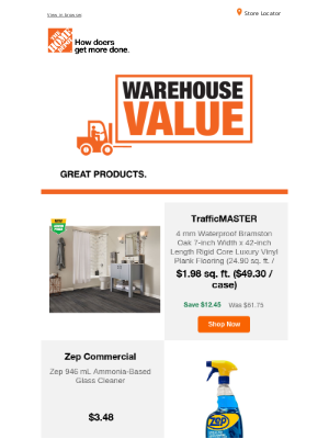 The Home Depot (CA) - Warehouse value delivered directly to you