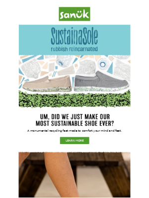 A monumental recycling feat for your feet!