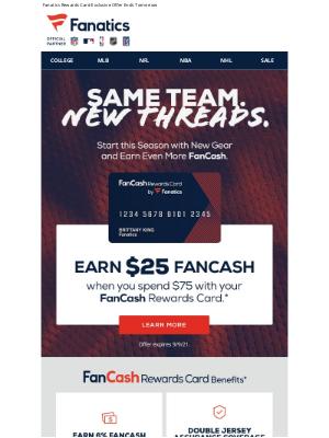 NFLshop - Last Chance To Score $25 FanCash