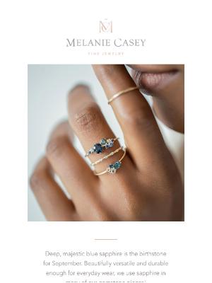 Melanie Casey - September is for sapphires 💙