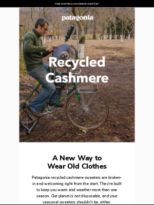 Patagonia - Recycled cashmere: A new way to wear old clothes