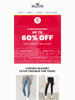 Hollister Co. - 3 days only: 60% off!