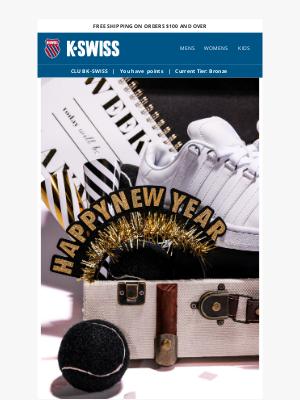 K-Swiss - Cheers! Happy New Year!  🎉