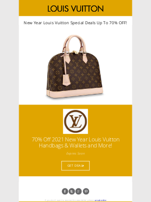 Poppin - 2021 New Year Special Deals - Louis Vuitton Handbags Up To 80% OFF!