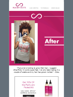 Transformation Tuesday: Make a difference in your hair!