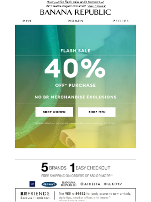 Open this soon: 40% off purchase