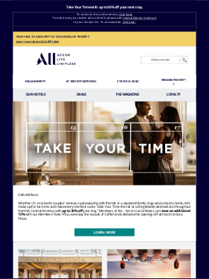 Fairmont Hotels - Make every moment count, William