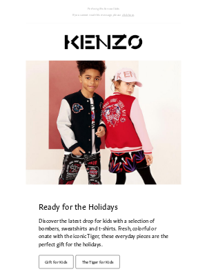 Kenzo - K for KENZO Kids: bright and fun for the holidays
