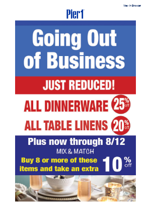 New Price Cuts on all Dinnerware – Plus, save buy more, save more!