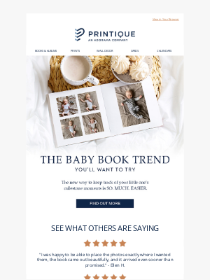 Printique - The Baby Book Trend Everyone's Raving About