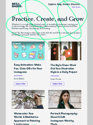 Skillshare - 6 classes to inspire your next project