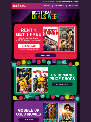 Redbox - BLACK FRIDAY DEALS!