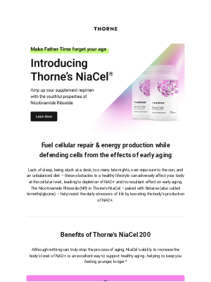 Thorne - New product alert! Introducing NiaCel® 200