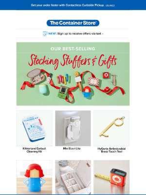 The Container Store - 😻 Thought your holidays couldn't get better? Look within... The Stocking Stuffers collection you're going to love.