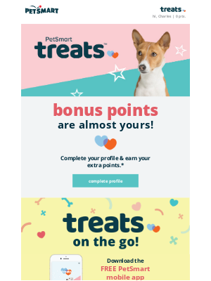 PetSmart - Forgetting something? Your 1,000 bonus points are waiting for you!