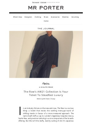 MR PORTER - Mary-Kate and Ashley Olsen's The Row is the height of quiet luxury