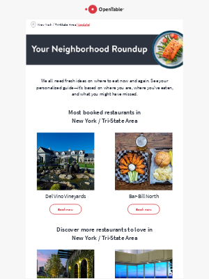OpenTable - casey, top picks for you