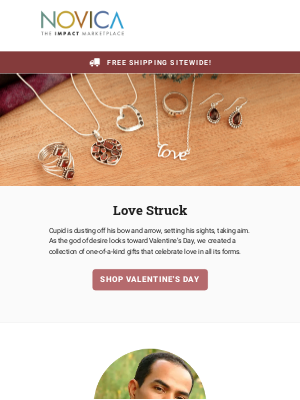 NOVICA - Love is in the air + Free Shipping Sitewide!