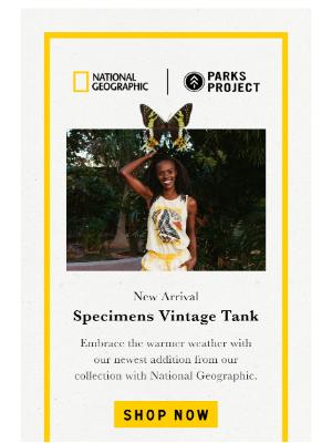 Parks Project - New Arrival: Specimens Vintage Tank 🦋