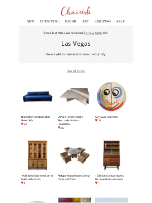 Chairish - Virtually support Las Vegas's local sellers: See 84 new arrivals today