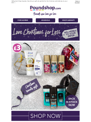 Poundshop - Unwrap gift ideas with up to 54% savings 🎁