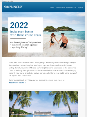 Princess Cruises - We heard you love deals, Robert