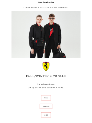 Ferrari - The End of Season Sale Continues