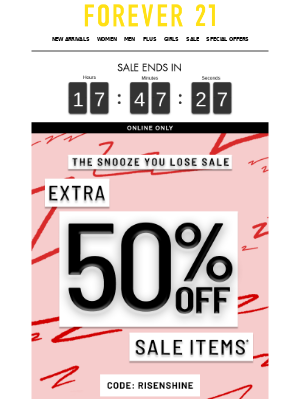 LAST CHANCE! 💃TAKE AN EXTRA 50% OFF!