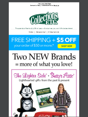 Collections Etc. - Discover Our New Brands: The Lighter Side + Betty's Attic & Things You Never Knew Existed...