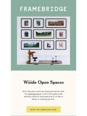 Framebridge - Introducing: the Landscape Grid