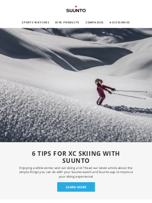suunto - 6 tips for XC skiing with Suunto