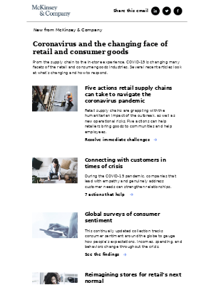 Coronavirus and the changing face of retail and consumer goods