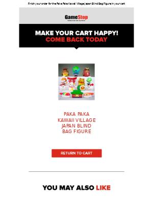 GameStop - Your cart misses you