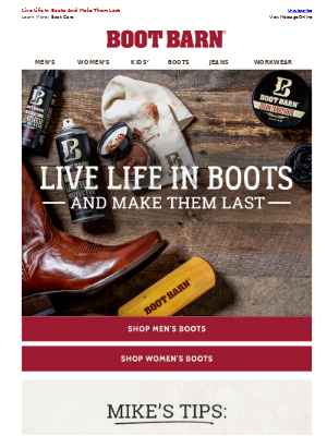 Let Your Boots Shine + Extra 30% Off Clearance Online