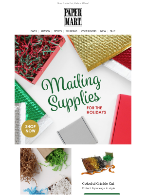 Paper Mart - Sending Christmas Cheer? Stock Up On Holiday Mailing Supplies Today