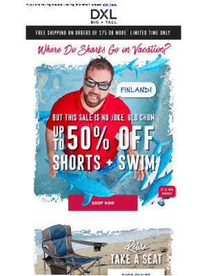 This Sale is Fintastic! Save Up to 50% on Shorts + Swim