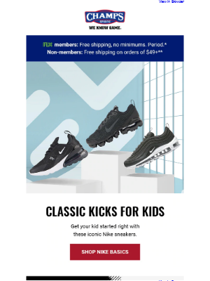 Champs Sports - Get your kids the kicks they crave with Nike and adidas 👟🔥