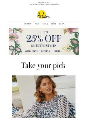 Boden (UK) - we think you'll love these (and up to 25% OFF)