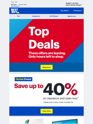 Best Buy - Finishes today