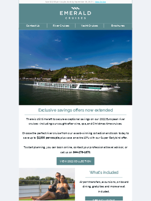 Emerald Waterways - Calling all wine and spa enthusiasts! These cruises were made for you