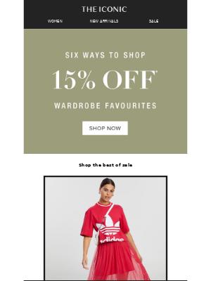 6 wardrobe favourites, at 15% OFF