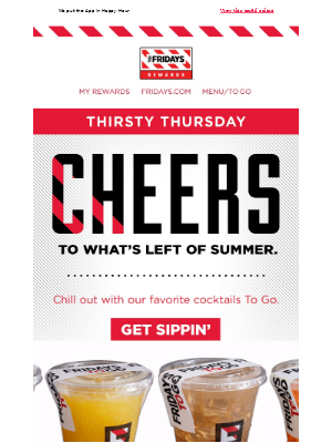 TGI Fridays - Drinks That Say