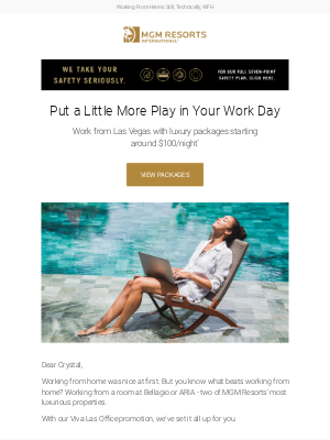 MGM Resorts - Viva Las Office with up to $375 F&B Credit