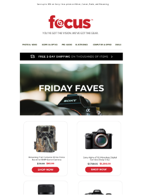 Focus Camera - Do You Have Weekend Shopping Plans?