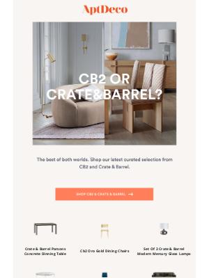 AptDeco - You choose...CB2 or Crate & Barrel?